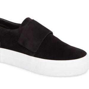 Vince suede slip on platform sneakers